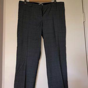 Hugo Boss grey blue plaid trousers 12